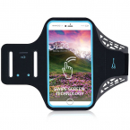 Universellt Sportarmband till smartphones, 4.7-5.0 tum, svart