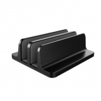 Vertikalt laptopställ med justerbar bredd, 12x15x4.7cm, svart