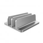 Vertikalt laptopställ med justerbar bredd, 12x15x4.7cm, silver