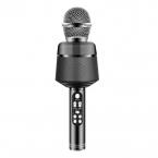 Karaoke trådlös Bluetooth-mikrofon, svart