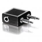 Qnect flygadapter, för 3.5 mm hörlurar eller headset