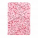 Läderfodral med blommor till iPad Mini 4/5, ljusrosa