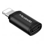 McDodo OT-7680 USB-C till Lightning-adapter, 3A, svart