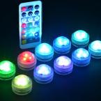 Vattensäkra LED-ljus i flera färger för pooler och vaser, 10st