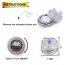 Vattentäta LED‑teljus för badkaret eller poolen, 2 dioder, 10st