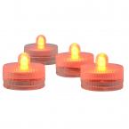 Vattentäta LED-teljus för badkaret eller poolen, 0.2W, 10st