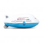 Ridaz flygplansväska för barn med hjul, vit/blå