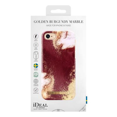 iDeal Fashion Case, iPhone 8/76/6S, Golden Burgundy