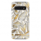 iDeal Fashion Case magnetskal Galaxy S10, Platinum Leaves