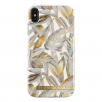 iDeal Fashion Case magnetskal iPhone XS Max, Platinum Leaves