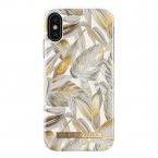 iDeal Fashion Case magnetskal iPhone X/XS, Platinum Leaves