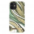 iDeal Fashion Case skal, iPhone 12 Mini, Cosmic Green Swirl