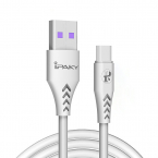 iPaky USB-C kabel, Quick charge 3.6A, 1m, vit