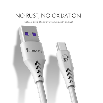 iPaky USB‑C kabel med Quick charge, 3.6A, 1m, vit
