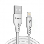 iPaky lightningkabel till iPhone/iPad Quick charge 3.6A, 1m, vit