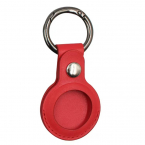 Nyckelringhållare i läder till Apple Airtags, röd
